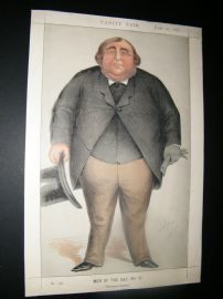Vanity Fair Print 1871 Arthur Orton Claiming to be Rodger Tichbone